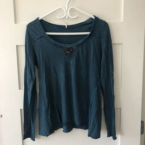 Free People long sleeve shirt with beaded details
